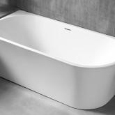 Акриловая ванна Abber AB9257-1.7 170 х 78 x 60 см без гидромассажа, пристенная, белая, левая