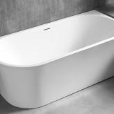 Акриловая ванна Abber AB9257-1.7 170 х 78 x 60 см без гидромассажа, пристенная, белая, правая