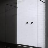 Душевая перегородка Radaway Modo New Black I Walk-in 150 фурнитура черная , стекло прозрачное