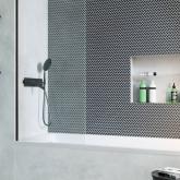 Шторка для ванны Radaway Modo New Black PNJ 50 профиль чёрный , стекло прозрачное