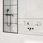 Шторка для ванны Radaway Modo New Black PNJ Factory 100 профиль чёрный , стекло прозрачное