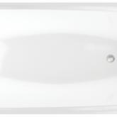 Акриловая ванна C-Bath Saturn CBQ012001 170 х 75 см, белая