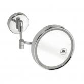 Косметическое зеркало Bemeta 112101142-warm , круглое, с подсветкой, LED-тёплый свет хром
