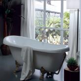 Ванна отдельно стоящая KERASAN Retro  170х77см, цвет белый, ножки, сифон и слив-перелив в комплекте, цвет золото