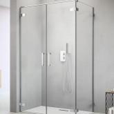 Дверь для душевого уголка Radaway Arta W DWD+S 40 левая , с петлей к стене , профиль хром , стекло прозрачное