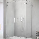 Дверь для душевого уголка Radaway Arta C DWD+S 40 правая, с петлей на углу , профиль хром , стекло прозрачное