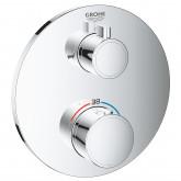Термостат для ванны GROHE Grohtherm с переключателем на 2 положения ванна-душ, круглая розетка, хром (24077000)