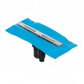 Желоб BERGES водосток SIMPEL 600, хром глянец, S-сифон D50/105 H50 вертикальный
