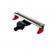 Желоб BERGES водосток SUPER Slim 400, хром глянец, S-сифон D50 H60 боковой