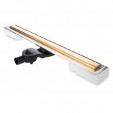 Желоб BERGES водосток В1 Keramik 900, золото глянец, S-сифон D50 H60 боковой