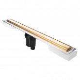 Желоб BERGES водосток В1 Keramik 800, золото глянец, S-сифон D50/105 H50 вертикальный