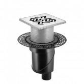 Трап BERGES водосток PLATZ Antik 150х150, хром глянец, S-сифон D50/105 H50 вертикальный