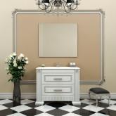 Комплект мебели Opadiris Оникс 100 .  Продается с экспозиции. Состав комплекта : тумба с раковиной, зеркало с подсветкой.
