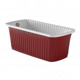 OLIVIA PANELLO Ванна 174x83хH66 см. белая, панель красная, слив/перелив бронза