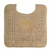 Коврик д/WC 60х60 см. логотип АФИНА, капучино, окантовка золото