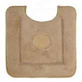 Коврик д/WC 60х60 см. вышивка логотип MIGLIORE, капучино, окантовка золото