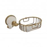 Решетка-корзинка настенная Migliore Olivia 17440, керамика белая, бронза