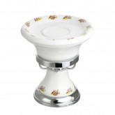 Mыльница настольная Migliore Provance 17649, керамика с декором/хром