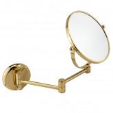 Зеркало оптическое на шарнирах d18хh25x42 см. (3X), золото