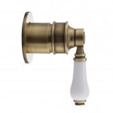 Смеситель Migliore Ermitage Mini 28592 для душа , белый/бронза