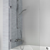 Шторка для ванны VZ SCANDIC NXT X108 850x150 P Хром