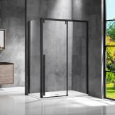 Душевой уголок Lugano VSR-1L9013CLB-1, 1300*900, черный, стекло прозрачное