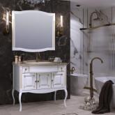 Комплект мебели Opadiris Лаура 100. Продается с экспозиции. В комплект входит: тумба, раковина ,мраморная столешница и зеркало.