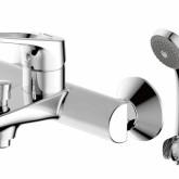 Смеситель для ванны с коротким изливом с аксессуарами Bravat Drop-D