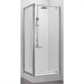 Душевой уголок BRAVAT Drop без поддона одна распашная дверь 900x900x2000