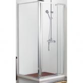 Душевой уголок BRAVAT Line без поддона с одной распашной дверью 900x900x2000