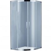 Душевой уголок BRAVAT Stream без поддона с двумя раздвижными дверьми 900x900x2000