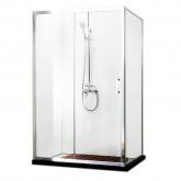 Душевой уголок BRAVAT Line без поддона одна раздвижная дверь 1200x800x2000