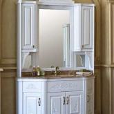 Комплект мебели для ванной Classic 140A Аллигатор-мебель, зеркало на столешнице, массив дуба