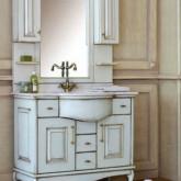 Комплект мебели для ванной комнаты Аллигатор мебель Capan 100 H (D) , зеркало с 2-мя шкафчиками на столешнице