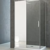Боковая стенка для душевого уголка Radaway Espera KDJ 100x200 левая ,  профиль хром, стекло прозрачное