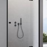 Душевая дверь Radaway Essenza New Black DWJ 90 левая , профиль чёрный , стекло прозрачное