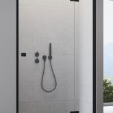 Душевая дверь Radaway Essenza New Black DWJ 100 правая , профиль чёрный , стекло прозрачное