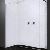 Душевая перегородка Radaway Modo New Black II Walk-in 75 фурнитура черная , стекло прозрачное