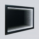 Зеркало LED VLM-2M600MB, 600x800 c сенсорным выключателем и диммером, черное