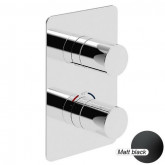 Термостат для ванны/душа встраиваемый с переключателем на 3 потребителя Giulini Futuro черный матовый 8277NO