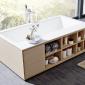 Прямоугольная ванна из искусственного камня Riho Girasole 180x100 белая BS4800500000000 7