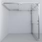 Душевой уголок Garda VSS-1G9010CLB, 1000*900, черный, стекло прозрачное 2