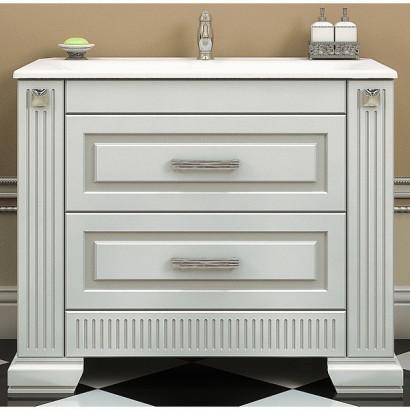 Комплект мебели Opadiris Оникс 100 .  Продается с экспозиции. Состав комплекта : тумба с раковиной, зеркало с подсветкой. 2
