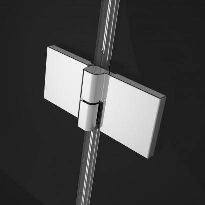 Распашная створка для душевой двери в нишу Radaway Essenza New DWJS 130 левая , профиль хром , стекло прозрачное 2