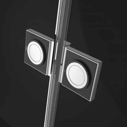 Распашная створка для душевой двери в нишу Radaway Essenza New DWJS 130 левая , профиль хром , стекло прозрачное 3