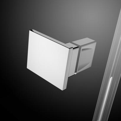 Распашная створка для душевой двери в нишу Radaway Essenza New DWJS 130 левая , профиль хром , стекло прозрачное 6