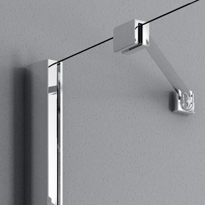 Распашная створка для душевой двери в нишу Radaway Essenza New DWJS 130 левая , профиль хром , стекло прозрачное 7