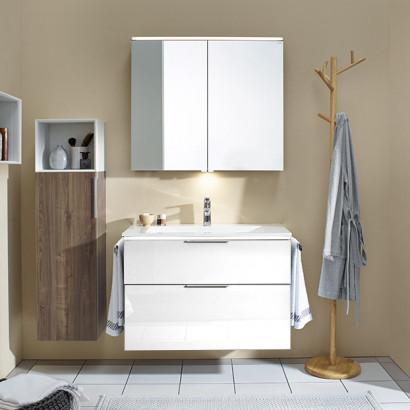 Burgbad Eqio Комплект мебели с раковиной 930 мм, цвет белый глянец