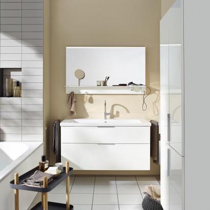 Burgbad Eqio Комплект мебели с раковиной 1230 мм, цвет белый глянец