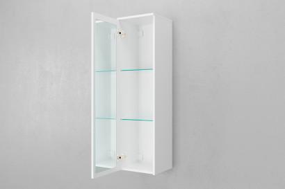 Пенал подвесной Unit 120, зеркало внутр., белый лед 2